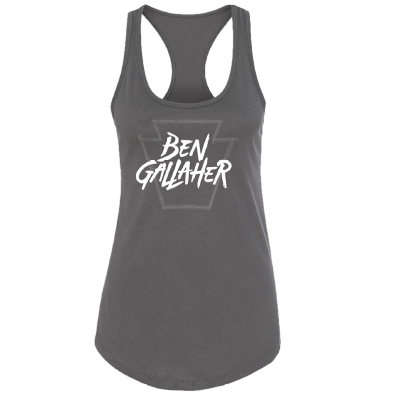 Ben Gallaher Ladies Dark Grey Racerback Tank