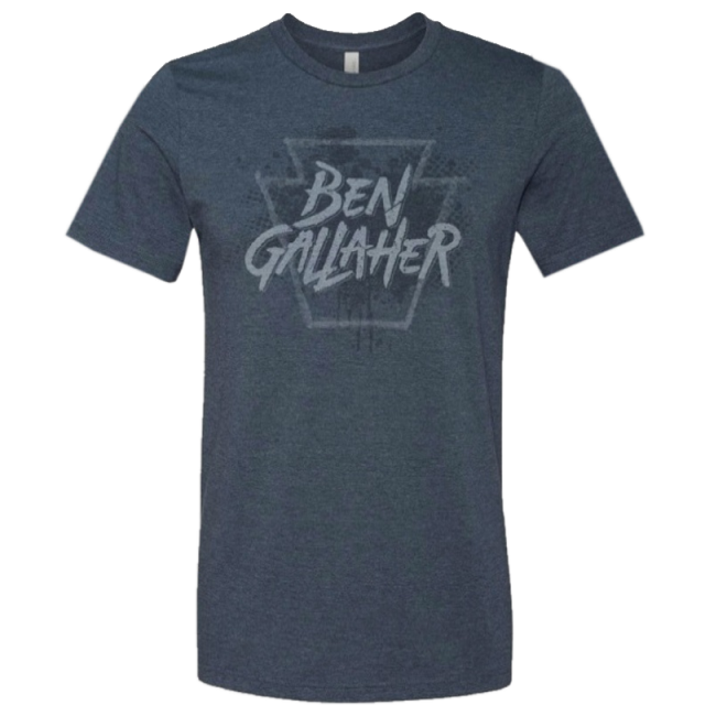 Ben Gallaher Heather Navy Tee